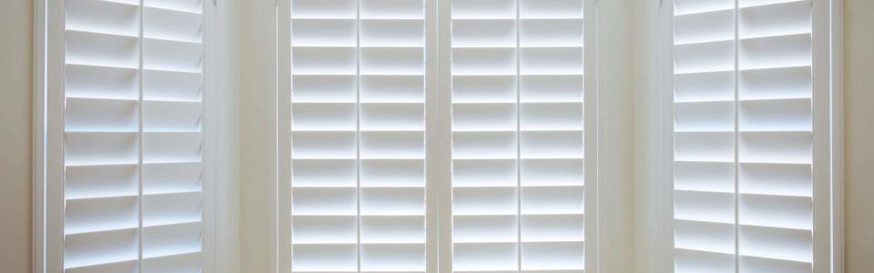 Custom Shutters For Closet Window - Close Up