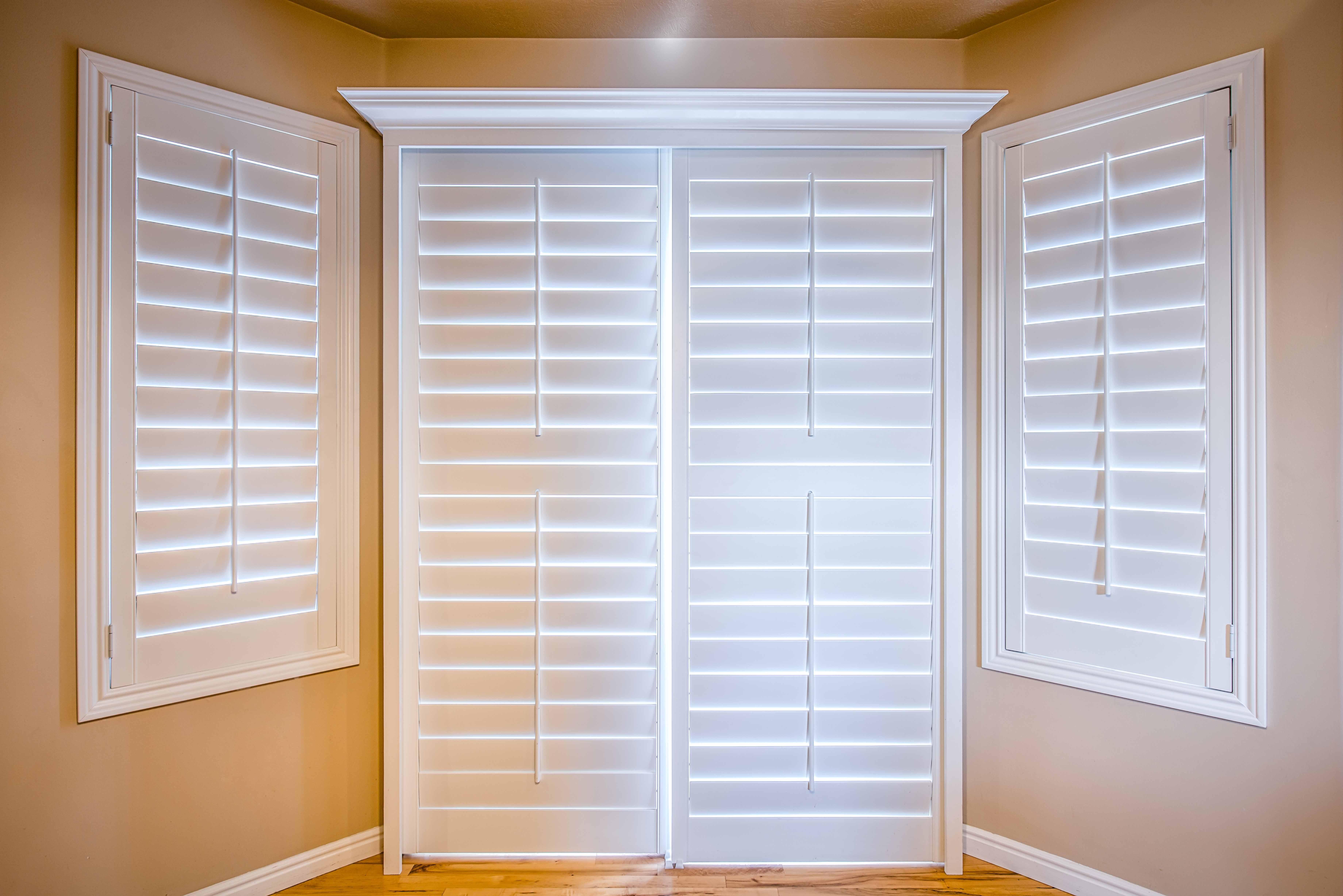 Interior shutters for sliding glass doors - Sliding Door Plantation Shutters