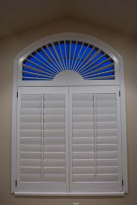 Utah Arched Window Shutters