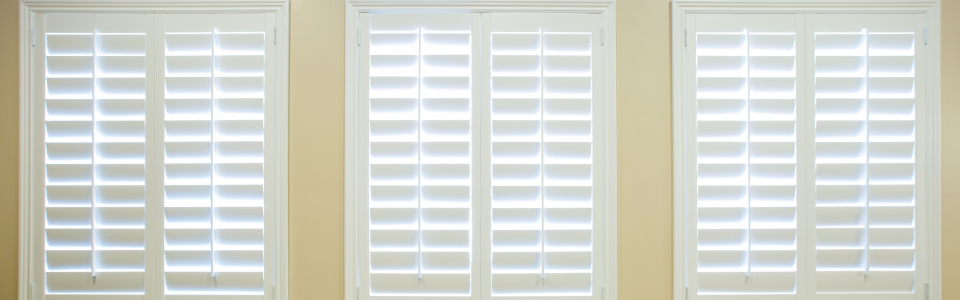Custom White Plantation Shutters
