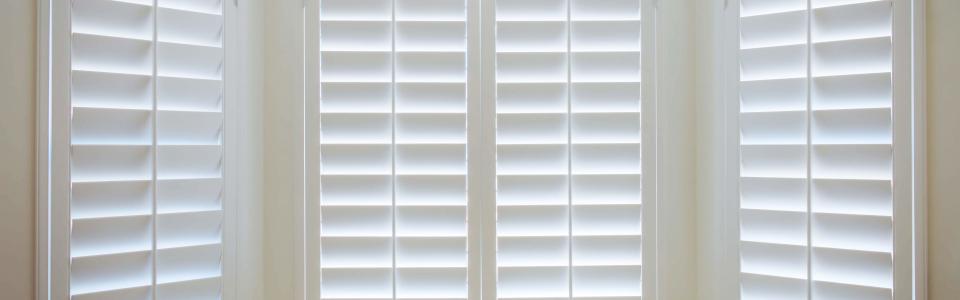 Custom Shutters For Closet Window - Close Up