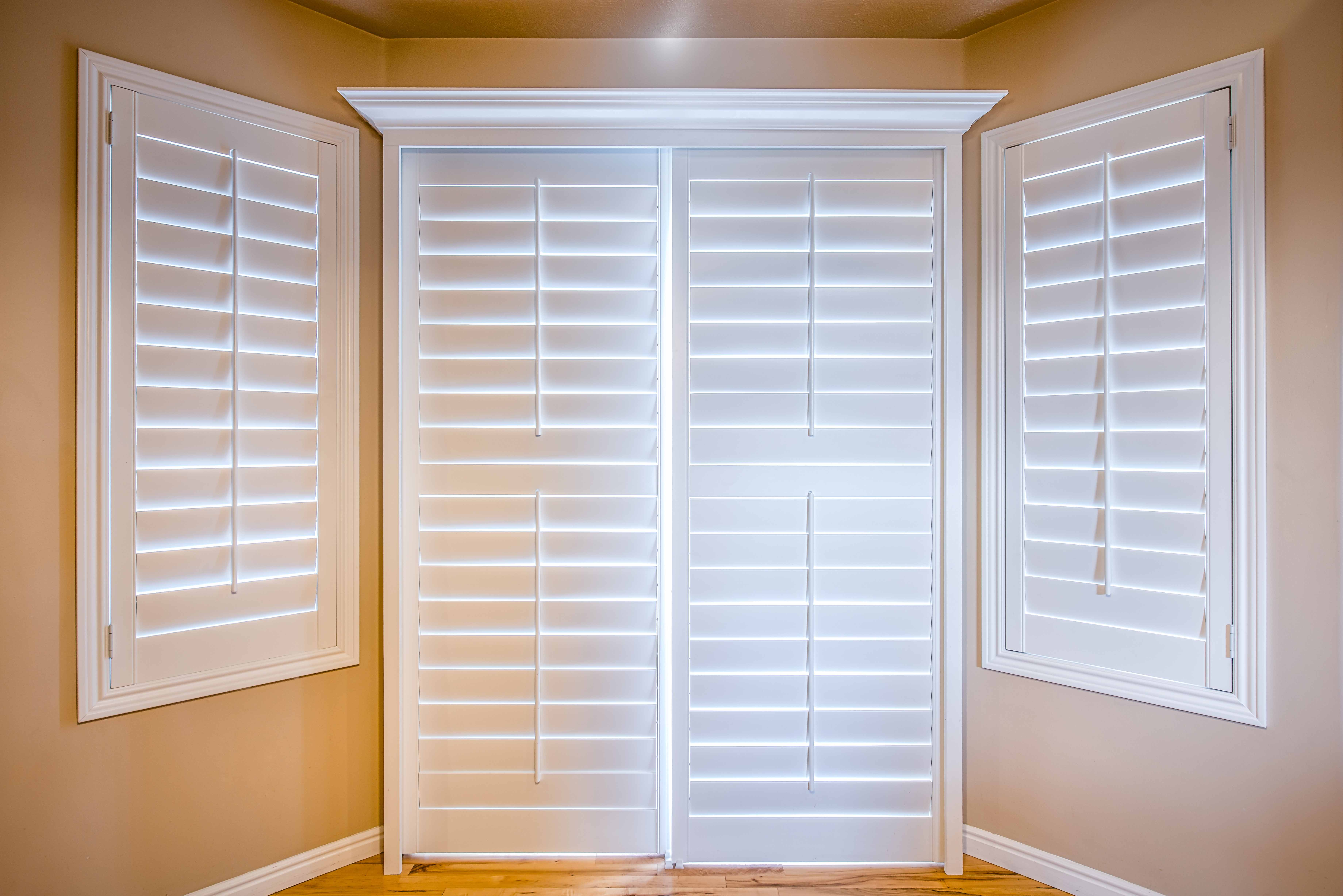 Door shutters large french door with shutter feature sc 1 st homesfeed - Plantation shutters kits ...